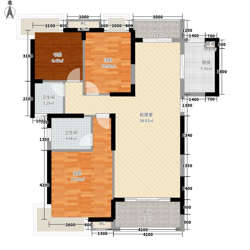 紫金城中央公园三期高层20#楼标准层B2户型