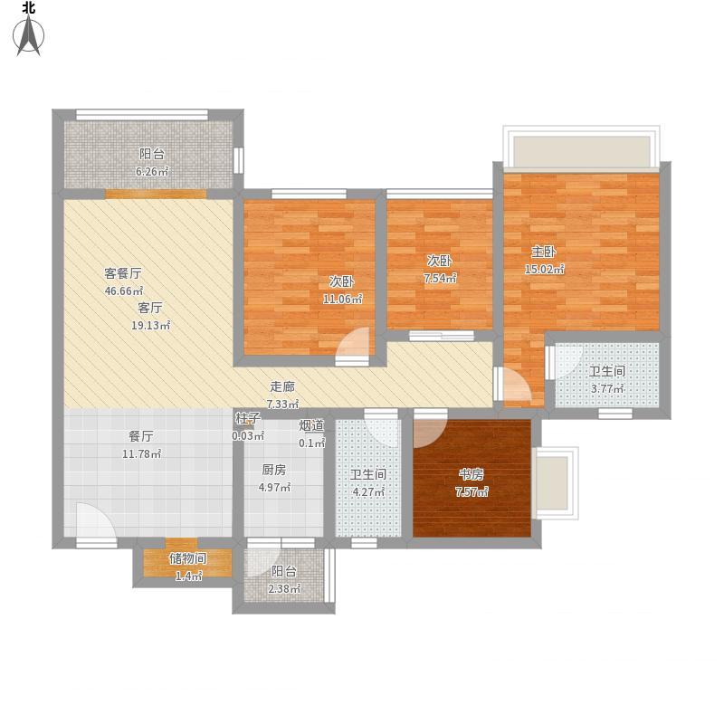 塞纳湾132平米四室两厅