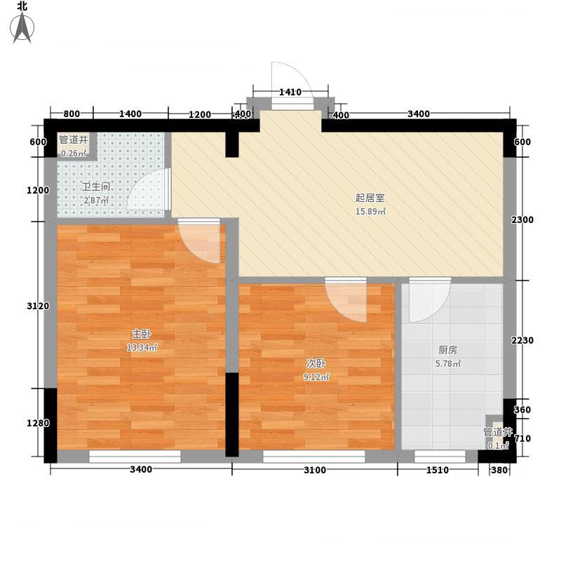 新湖明珠城67.41㎡新湖明珠城户型图Y户型2室2厅1卫户型2室2厅1卫