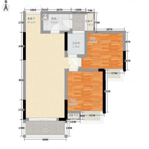 华宇绿洲2室1厅1卫1厨149.00㎡户型图