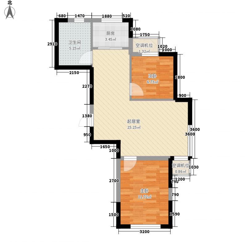 新湖明珠城80.20㎡新湖明珠城户型图22号楼B户型2室2厅1卫户型2室2厅1卫