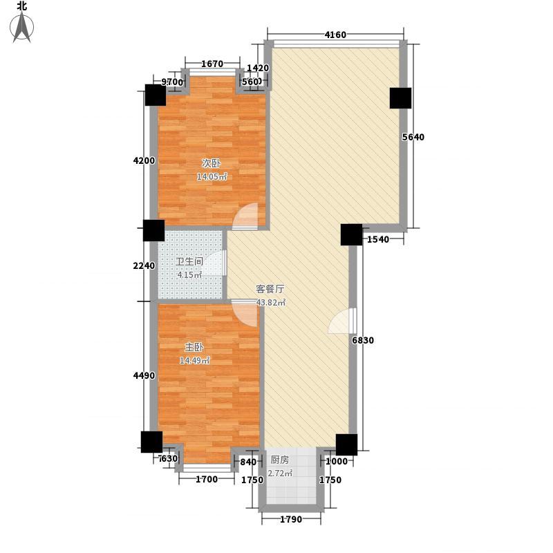 常顺苑105.67㎡常顺苑105.67㎡2室2厅1卫2厨户型2室2厅1卫2厨