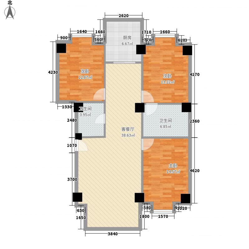 常顺苑137.97㎡常顺苑137.97㎡3室2厅3卫1厨户型3室2厅3卫1厨