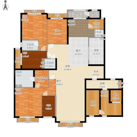 开明小区5室1厅4卫1厨365.00㎡户型图