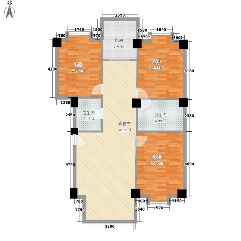 常顺苑137.70㎡户型3室2厅1卫1厨