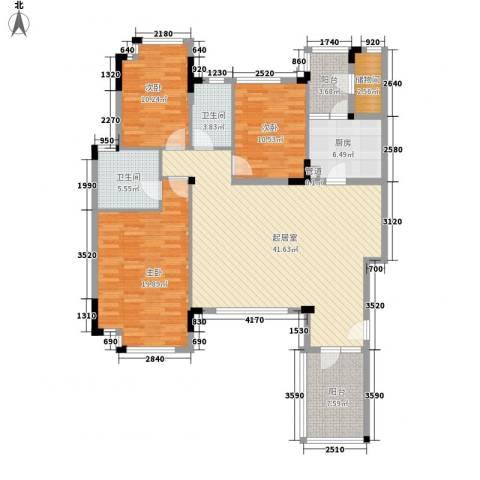 万科城市高尔夫花园别墅3室0厅2卫1厨157.00㎡户型图
