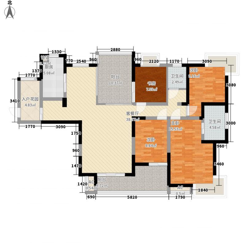 金科观天下169.10㎡金科观天下户型图二期6#7#F2户型(售完)4室2厅2卫户型4室2厅2卫