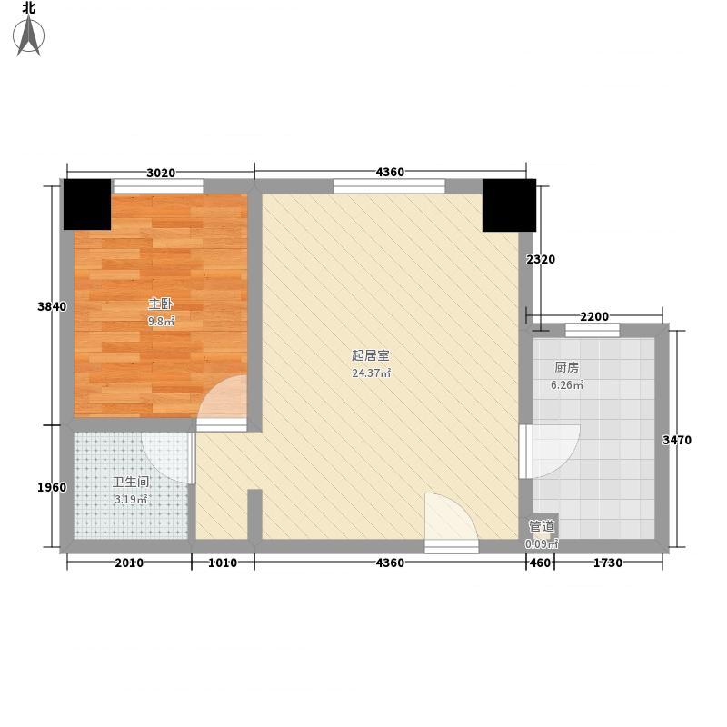 广宇风情苑62.67㎡广宇风情苑62.67㎡1室1厅1卫1厨户型1室1厅1卫1厨