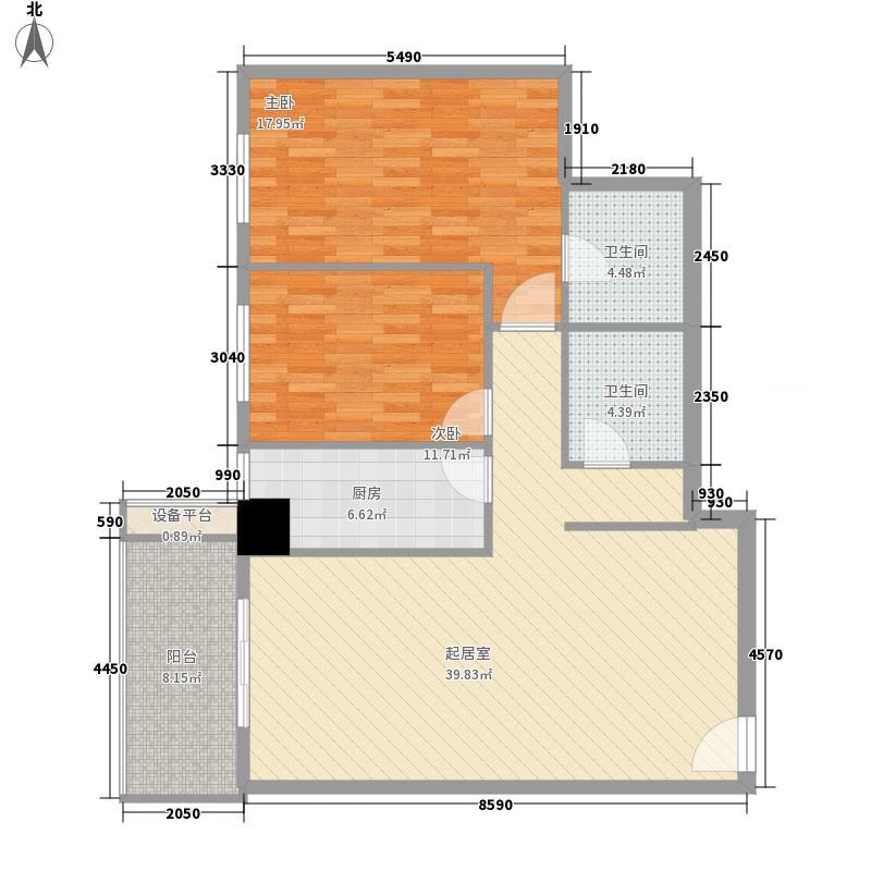 广宇风情苑130.18㎡广宇风情苑130.18㎡2室2厅2卫1厨户型2室2厅2卫1厨