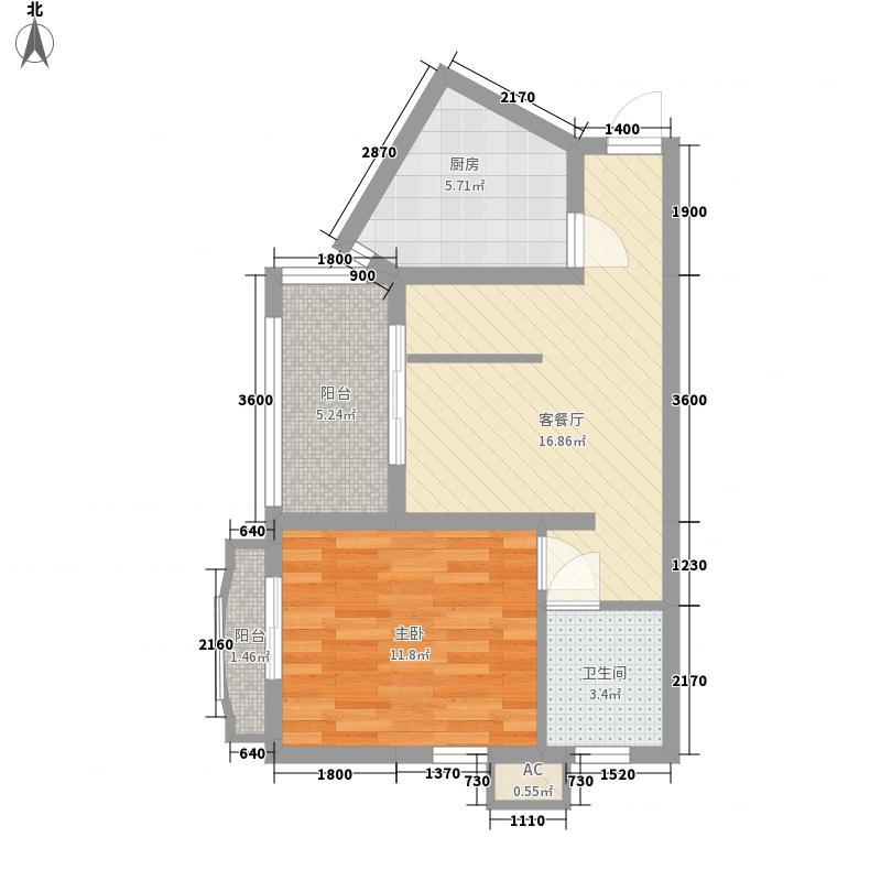 中央坡公馆57.31㎡中央坡公馆E户型平面图1室1厅1卫1厨57.31㎡户型10室