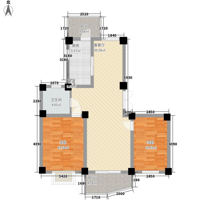 三易花园105.00㎡三易花园105.00㎡2室户型2室