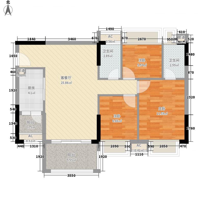 千色美湖花园98.93㎡千色美湖花园户型图B1栋06户型3室2厅2卫1厨户型3室2厅2卫1厨
