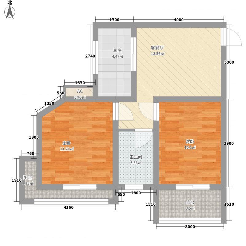 中央坡公馆68.35㎡中央坡公馆C户型平面图2室1厅1卫1厨68.35㎡户型10室