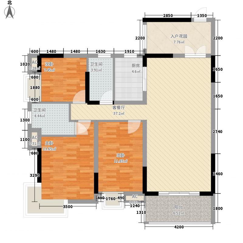 幸福嘉园88.89㎡幸福嘉园户型图B3户型2室2厅2卫1厨户型2室2厅2卫1厨