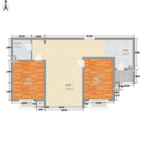 盛华苑2室1厅1卫0厨112.00㎡户型图