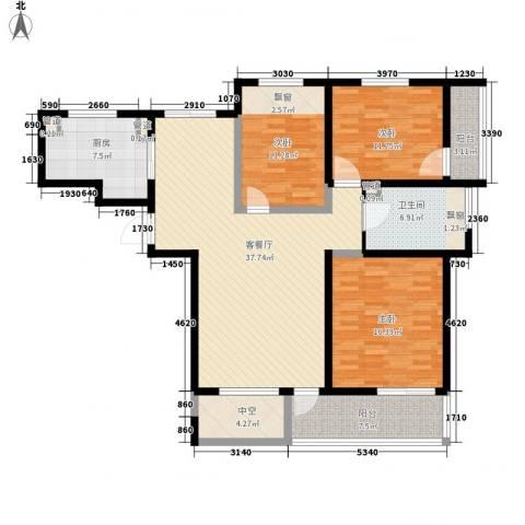 高新二路物业宿舍3室1厅1卫1厨154.00㎡户型图