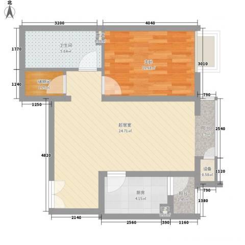 金隅凤麟洲1室0厅1卫1厨69.00㎡户型图