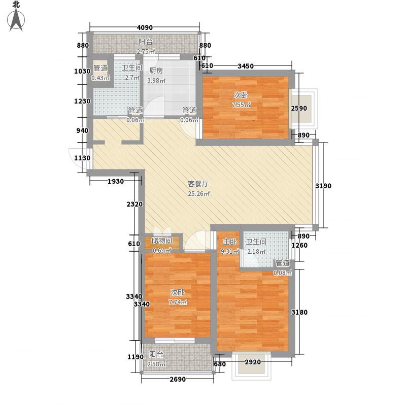 良景园96.00㎡良景园3室户型3室