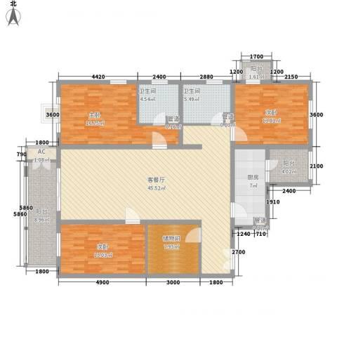 远洋德邑3室1厅2卫1厨175.00㎡户型图