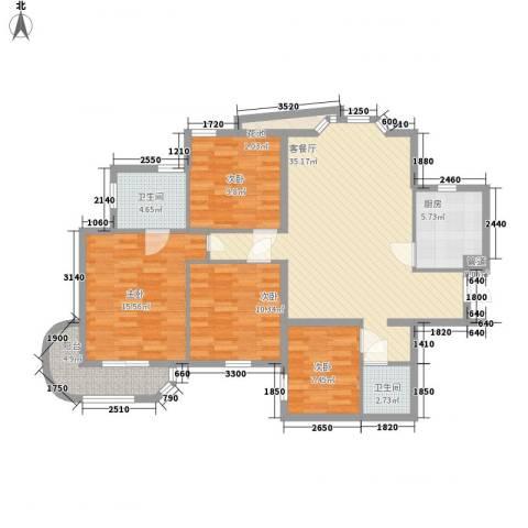 艺水芳园4室1厅2卫1厨132.00㎡户型图