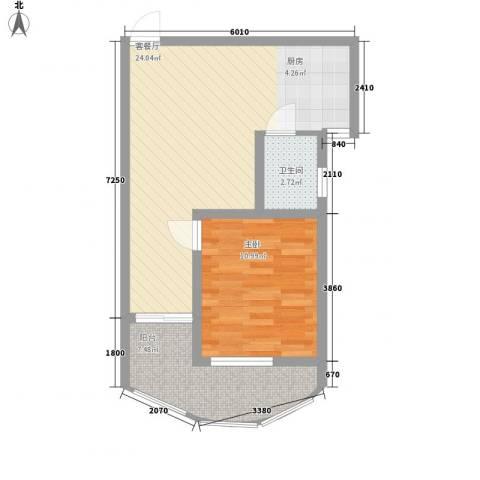九龙湾1室1厅1卫0厨59.00㎡户型图