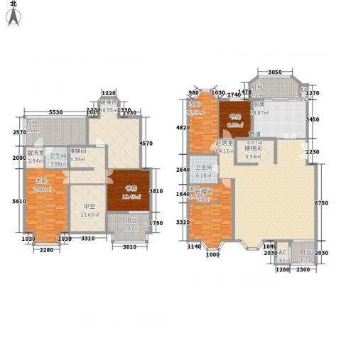 学风19115室0厅2卫1厨242.11㎡户型图