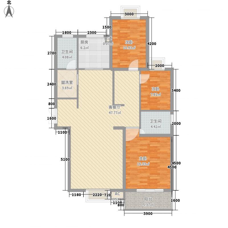 安宁庭院154.71㎡D1-1户型16#户型3室2厅2卫1厨