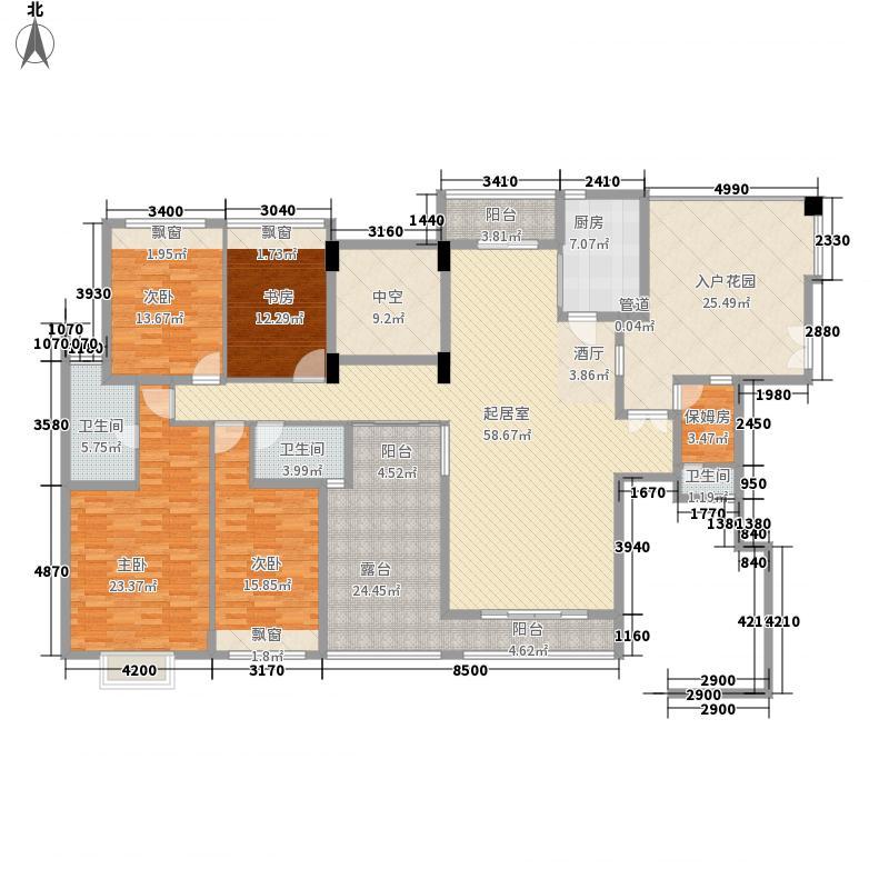 中央公馆蟠龙住宅 5室 户型图
