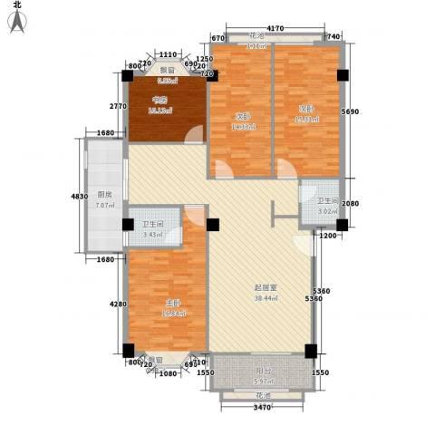 大唐花园4室0厅2卫1厨150.00㎡户型图