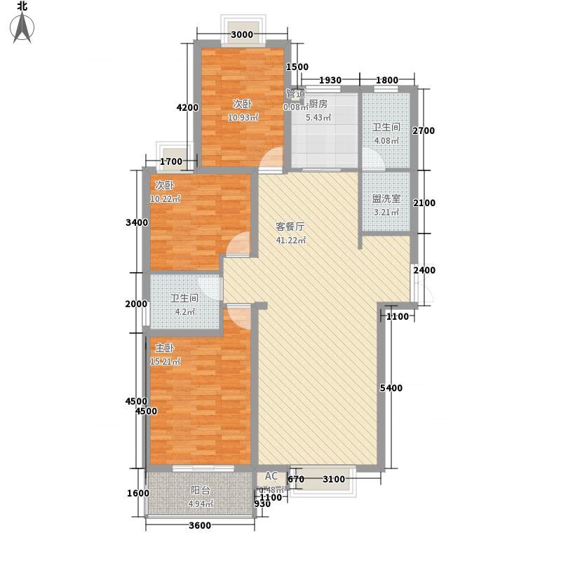安宁庭院145.41㎡D2-1户型3室2厅2卫1厨