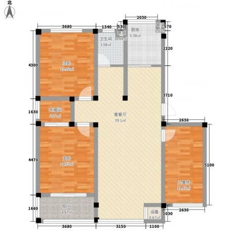 国旅小区3室1厅1卫1厨138.00㎡户型图