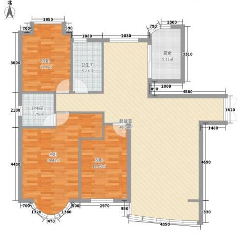 东北明珠3室0厅2卫1厨144.00㎡户型图
