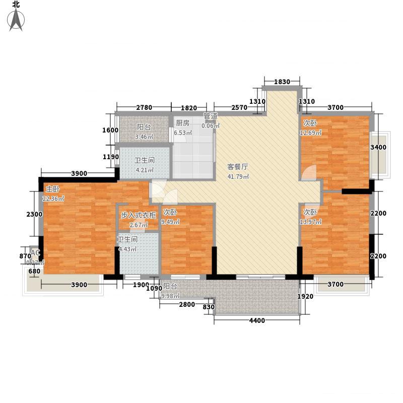 昆华苑143.00㎡户型5户型4室2厅2卫1厨
