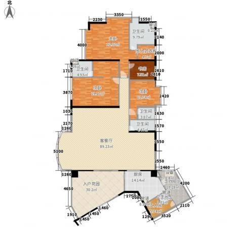 利雅湾4室1厅5卫1厨353.00㎡户型图