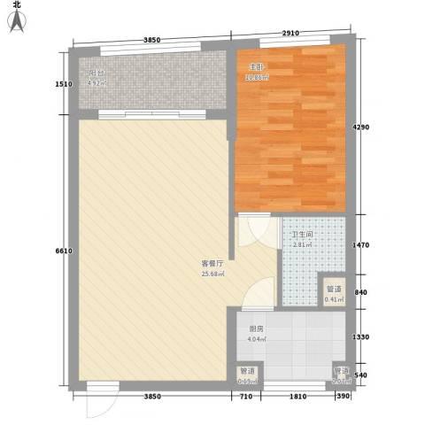 汇展香格里拉1室1厅1卫1厨69.00㎡户型图