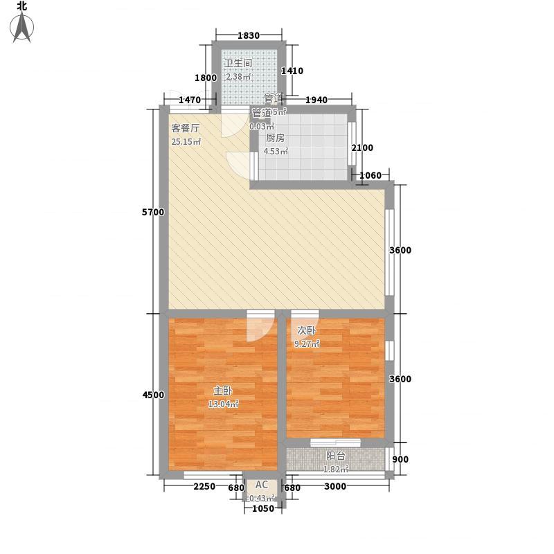 御龙逸城74.75㎡御龙逸城户型图2室2厅1卫户型10室