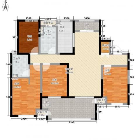 新城公馆4室0厅2卫1厨163.00㎡户型图