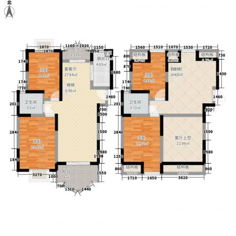 香格里拉・水岸绿城4室2厅2卫1厨190.00㎡户型图