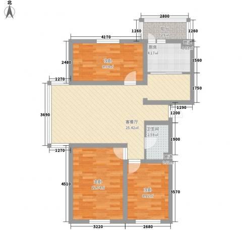 日出印象茗苑3室1厅1卫1厨94.00㎡户型图