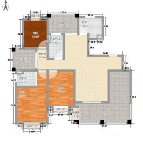 新城公馆3室0厅2卫1厨147.00㎡户型图