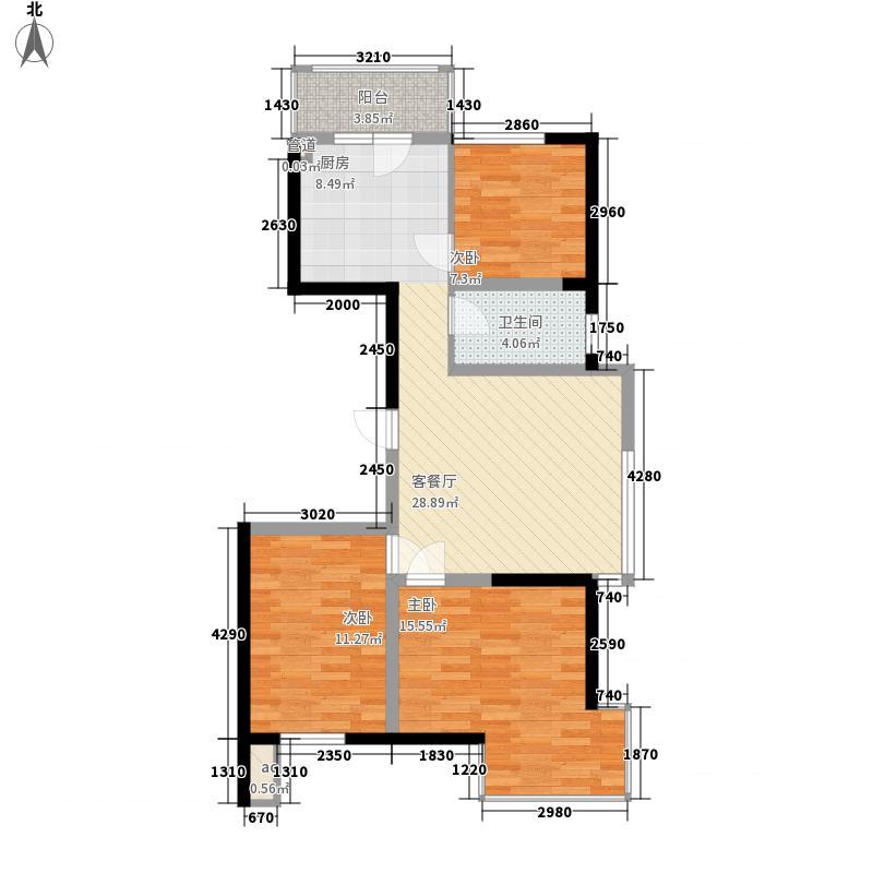 溪湖芳庭94.72㎡溪湖芳庭户型图A7/A8-A户型3室2厅1卫户型3室2厅1卫