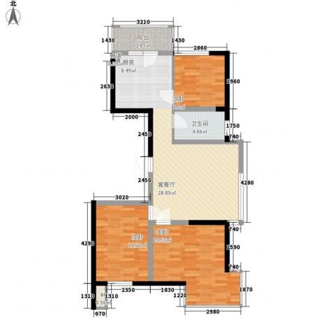 溪湖芳庭3室1厅1卫0厨95.00㎡户型图