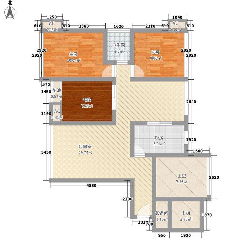 上上城111.00㎡A1-2-01户型3室2厅1卫1厨