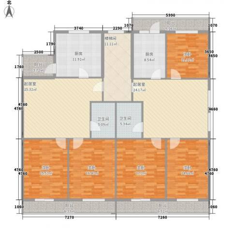 利海公寓5室0厅2卫2厨188.18㎡户型图
