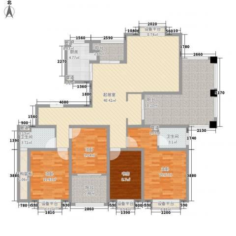 新城公馆4室0厅2卫1厨185.00㎡户型图