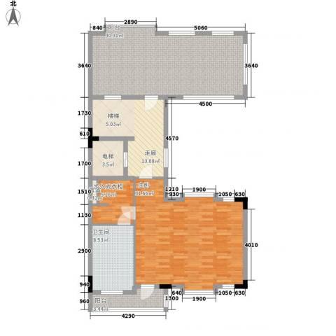 西上海君廷1室0厅1卫0厨270.00㎡户型图