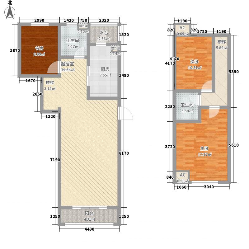 上上城150.00㎡户型3#B-4户型3室2厅2卫1厨