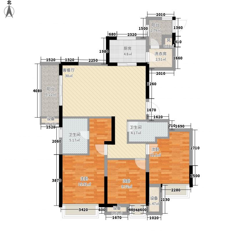汉江梦1958G户型3室2厅2卫
