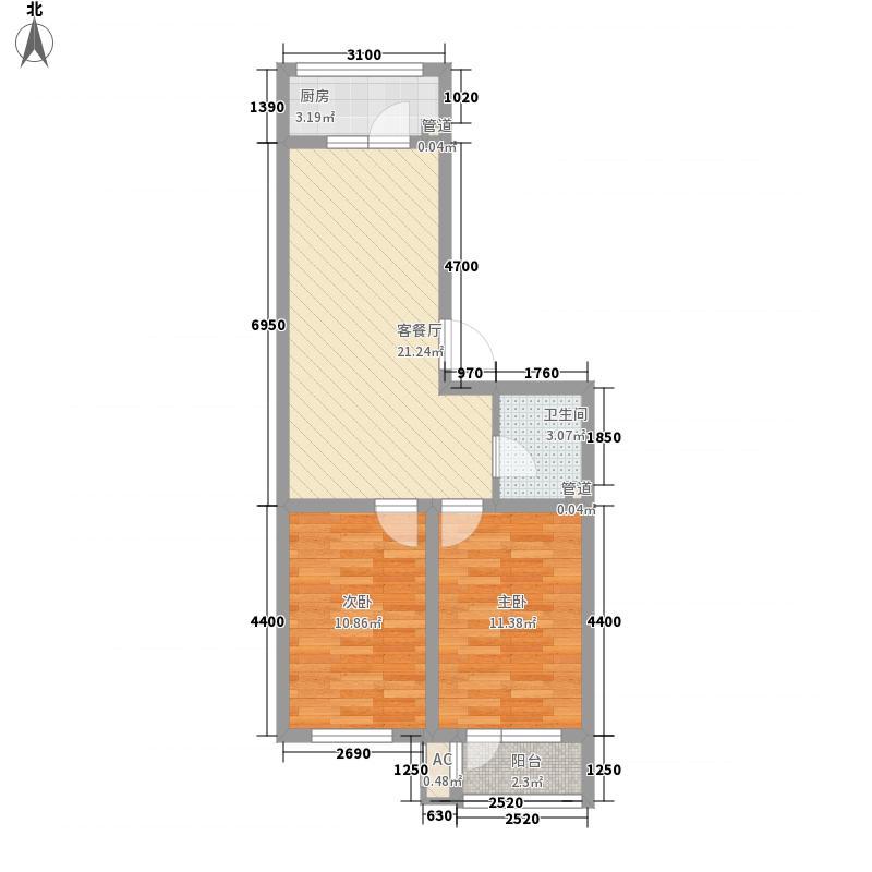 假日普罗旺斯71.53㎡假日普罗旺斯户型图F1户型2室1厅1卫户型2室1厅1卫