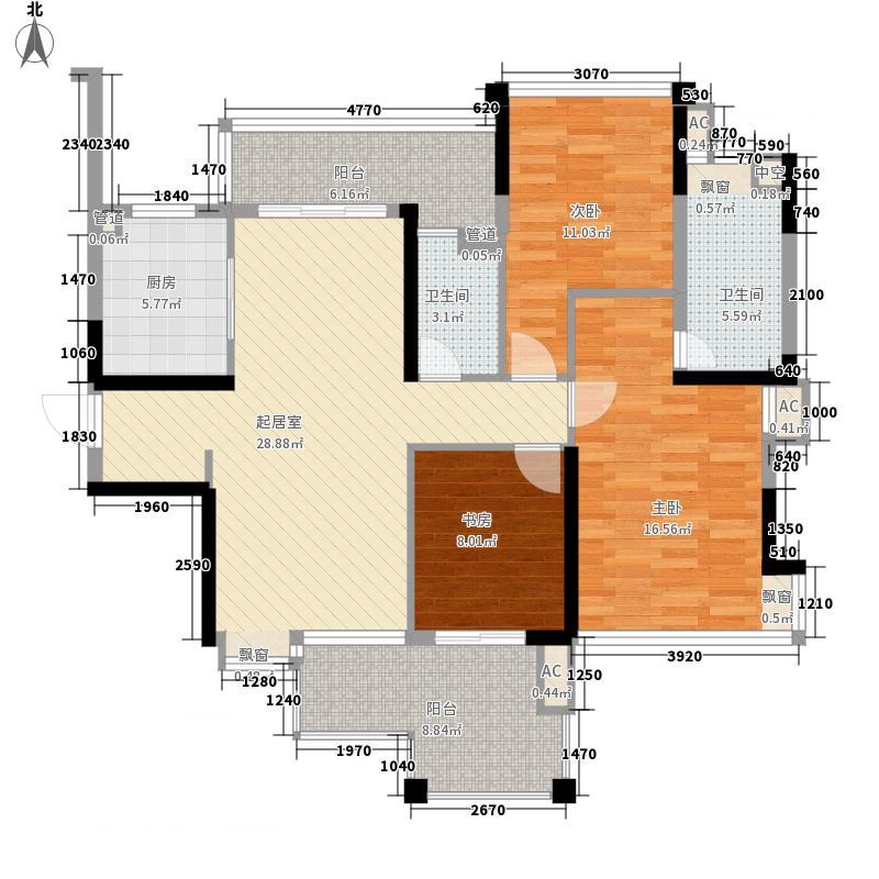 雅居乐鸿禧华庭雅居乐鸿禧华庭户型图17栋01单位137㎡三房两厅户型10室